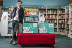 Dyfan Dwyfor at Porthmadog Library for Libraries Week