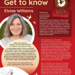 Poster featuring information about Author of the Month Eloise Williams