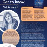 Provides further information about Author of the Month Chloe Heuch