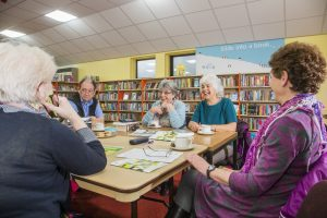 Aberkenfig Library Welsh language discussion group