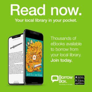 Poster advertising Borrowbox Children's eBooks