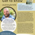 Poster featuring information about Author of the Month Jack Smylie Wild