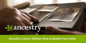 Poster advertising Ancestry Family History Resource