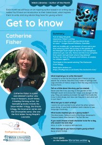 Get to know author Catherine Fisher poster