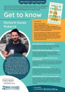 Get to know author Richard Owain Roberts poster