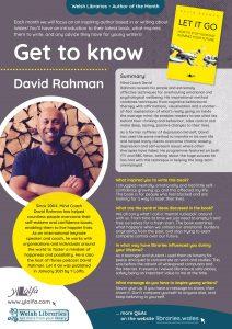 Get to Know Author David Rahman poster