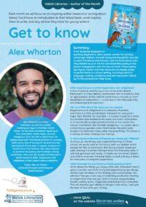 Get to know the Author Alex Wharton poster
