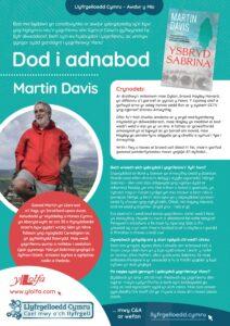 Poster Dod i Adnabod Awdur Martin Davis