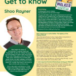 Poster featuring Author of the Month Shoo Rayner