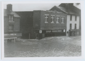 Historical photo of Newtown flooding
