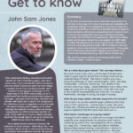 Poster featuring Author of the Month John Sam Jones