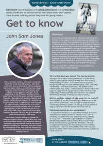 Get to know author poster for John Sam Jones