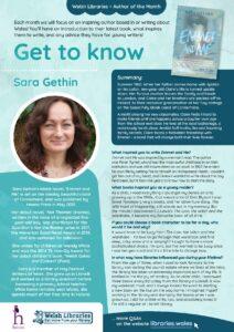 Get to Know author Sara Gethin poster