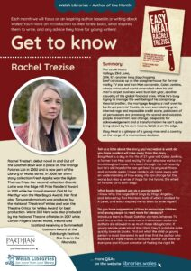 Get to know the author poster for Rachel Trezise